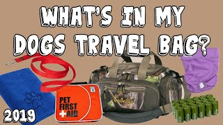 Whats In My Dogs Travel Bag For The Car
