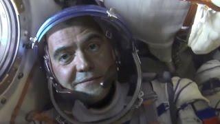 Полет Д. Медведева в космос. Прямое включение с МКС.