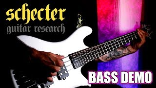 SCHECTER STILETTO STAGE 4 BASS GUITAR DEMO - STAY METAL RAY