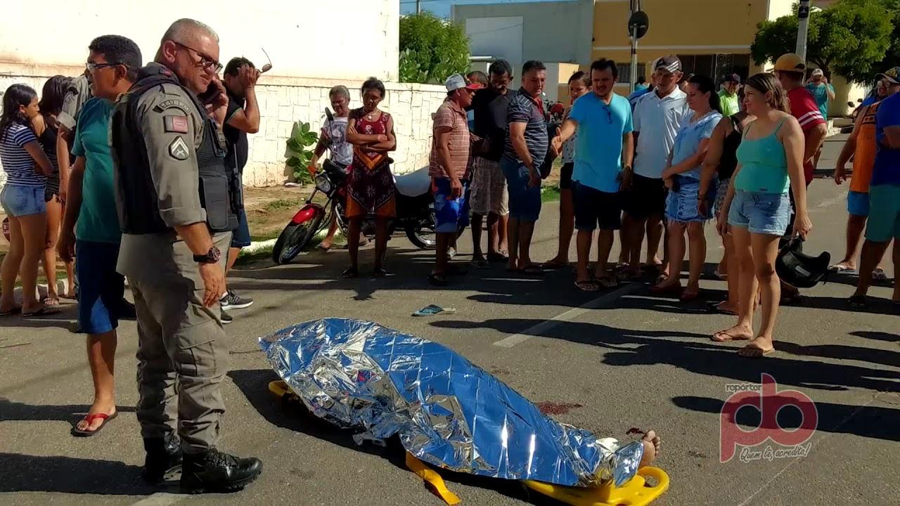 Violenta queda de Moto mata Jovem no Cento de Sousa