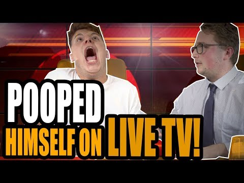 HE POOPED HIMSELF ON LIVE TV **PRANK!**