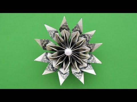 Gorgeous Money Flower Origami Dollar Tutorial Diy Nprokuda