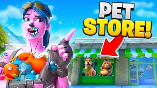 I Opened Up A PET STORE In Fortnite Fashion Shows... (so Funny)