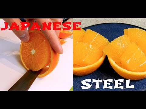 Japanese cutting skills - Super sharp Japanese utility knife 2