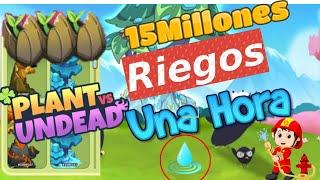 Plant Vs Undead 🌻 | 10Mm De Riegos En 1 Hora 💧💦 | Actualizacion | Farm 2.5 | Recompensas | 💥