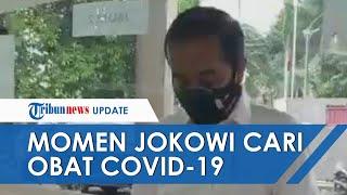 Bawa Kertas, Presiden Jokowi Sempat Kebingungan saat Datangi Apotek Cari Obat untuk Pasien Covid-19