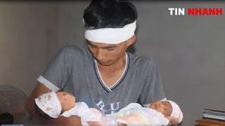 Xot xa xa cặp song sinh vừa chào đời đã mất mẹ ở Lào Cai
