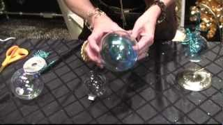 How To DIY Peacock Christmas Ornaments By Donna Moss Donna Decorates Dallas