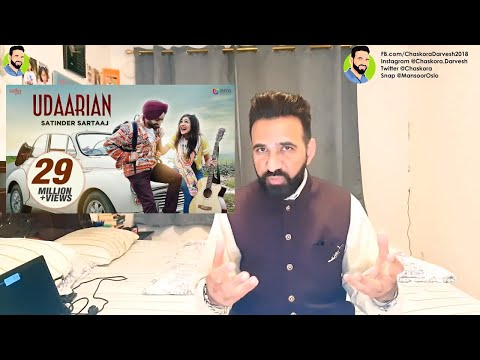 reAction from NORWAY; Udaarian - Satinder Sartaaj | Jatinder Shah | Sufi Love Songs | Punjabi 2018