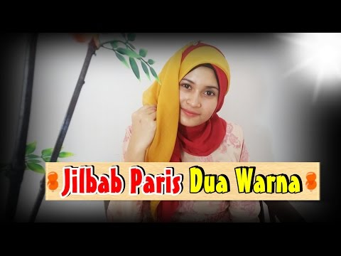 Video Tutorial Jilbab Paris Segi Empat Dua Warna #by  Nica 196