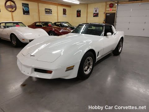 1980 White Corvette Dark Claret Interior For Sale Video