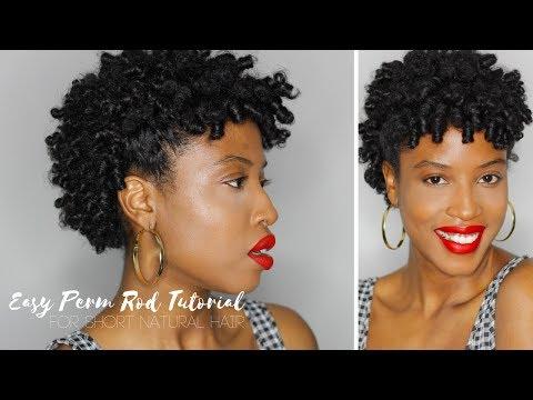 Beginners Perm Rod Tutorial For Short Natural Hair Twa Aisha