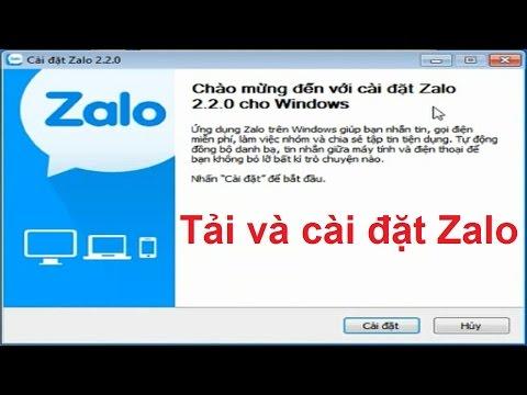 Hướng dẫn cài đặt Zalo cho máy tính