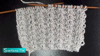 Описание вязания узора со снятыми петлями. Вязание спицами # 557