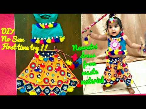 Navratri dress using  Fevicryl materials