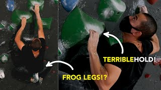 Difficult Frog Legs Body Positioning Movement to Climb this Boulder || Beta Breakdown by  rockentry