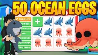 Wir öffnen 50 OCEAN Eggs und bekommen MEGA viele Sagenhafte Pets | Roblox/Deutsch