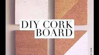 DIY Cork Board - Room Decor