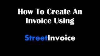 Street Invoice video