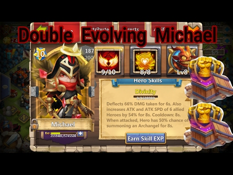 Castle Clash Double Evolving Michael!! - смотреть онлайн на