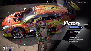 JOT381 GRAN TURISMO SPORT 170718 NURBURGRING MEGANE TROPHY 3rd to 1st ONLINE RACE 8 LAPS 614th WIN