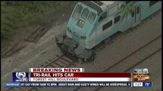 Tri-Rail hits car near Forest Hill Blvd.