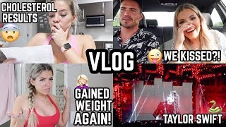 DAILY VLOG #8 🎥CHOLESTEROL RESULTS 😰😳GAINING WEIGHT 😒🤔TAYLOR SWIFT CONCERT 🐍🎤