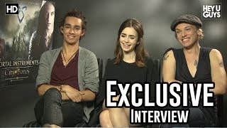 Robert Sheehan, Lily Collins, Jamie Campbell Bower - The Mortal Instruments Exclusive Interview