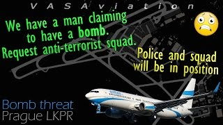 [REAL ATC] Enter Air diverts to PRAGUE due to a BOMB THREAT ONBOARD!!