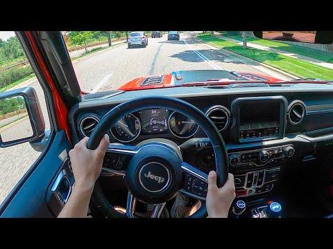 2021 Jeep Wrangler Rubicon 4xe - POV Test Drive (Binaural Audio)