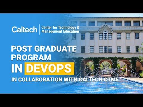 Post Graduate Program In DevOps In Collaboration With Caltech ...