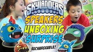 Skylanders Speakers Unboxing - Wrecking Ball & Stealth Elf (Rechargeable)