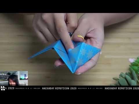 Remoticon Video: Making Glowy Origami with Charlyn Gonda