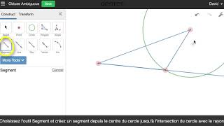 Desmos Geometry - Triangle Angle Obtus