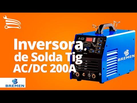 Solda Inversora Tig AC/DC 200A Mono  com Display Digital - Video