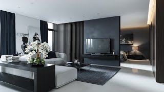 INTERIOR DESIGN IDEAS / Modern Gray Living Room Design Decor Ideas / Grey  Furniture  / Home DECOR