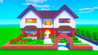 Minecraft Tutorial How To Make A Realistic Suburban House 2020 Tutorial Minecraftvideos Tv