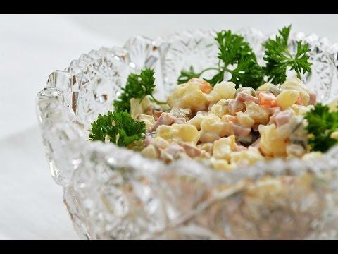 Салат Оливье с курицей  - классический рецепт