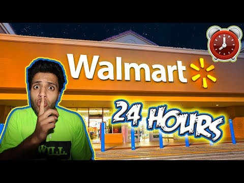 24 HOUR OVERNIGHT WALMART FORT CHALLENGE  ⏰ (ALARM WENT OFF ALMOST GOT CAUGHT)  BY SCARY SECURITY