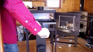 ロケットストーブ 特注オーブン ロケットキッチン|森の鍛冶屋 ケンズメタルワーク