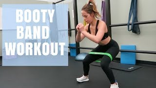 BOOTY BAND WORKOUT   Leg & Glute Workout For Women  Band Review