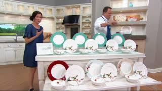 Lenox Chirp 12-Piece Bone China Dinnerware Set On QVC