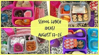 School Lunch Ideas! Back To School!
