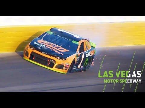 Kurt Busch exits NASCAR Playoffs race early after wreck: Monster Energy Series at Las Vegas
