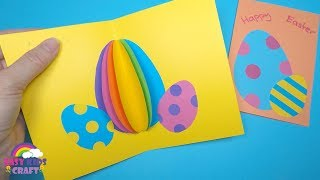 Easter Crafts For Kids | 3D Easter Egg Card