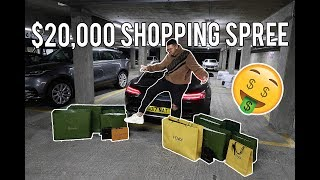 $20,000 LUXURY SHOPPING SPREE AT FENDI, OFF WHITE + VETEMENTS AT HARRODS!!! (INSANE)