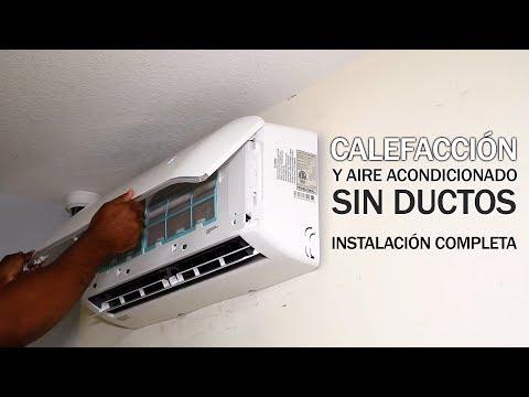 Cómo Instalar un Sistema de Calefacción y Aire Acondicionado sin Conducto