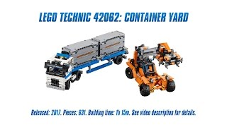 LEGO Technic 42062: Container Yard Unboxing, Speed Build & Review [4K]