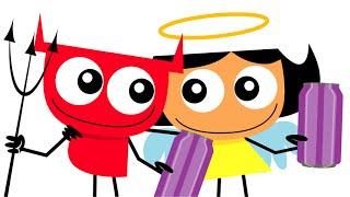 Aureola y Tridente video animado para niños