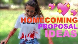 HOMECOMING PROPOSAL IDEAS- AURORA CASSADY